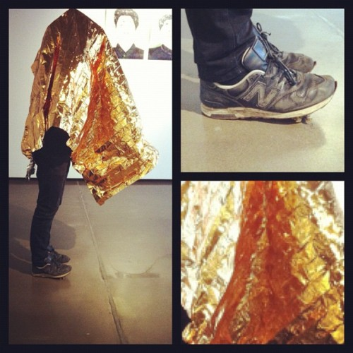 Gold cloth + beat 1400s= art #newbalance #1400 #gold (Taken with Instagram)