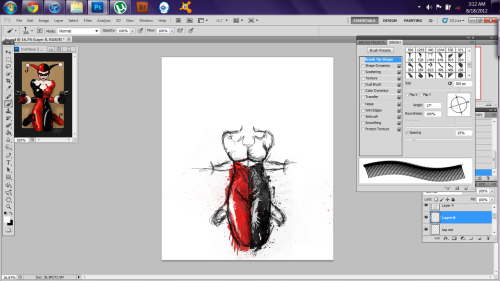 kryptikid:  Work in progress.   Something I startd at 2:30 in the morning, inspired by superpuppet.tumblr.com