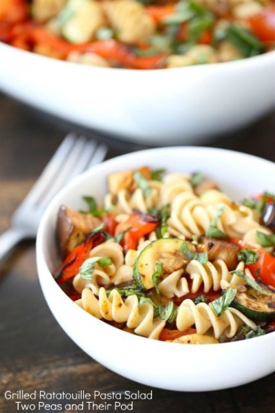Grilled ratatouille pasta salad… Recipe here