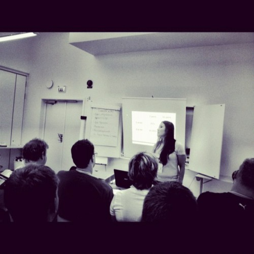 Malin Ström om LinkedIn på #sswc  (Taken with Instagram)
