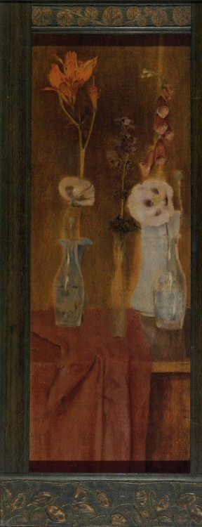 "Fernand Khnopff  ""Dream Flowers"""
