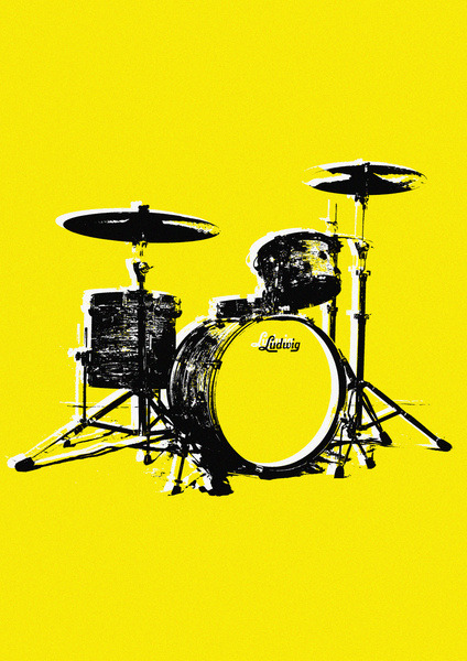 "Original art print, ""Drums"", by Matteo Moroni. Available here: http://society6.com/mattmoros/Drums-S3H_Print/"