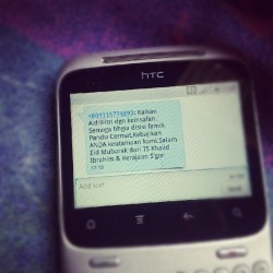 #Raya wish from TS Khalid. Kau ada? Haha  (Taken with Instagram at Pulai Chondong)