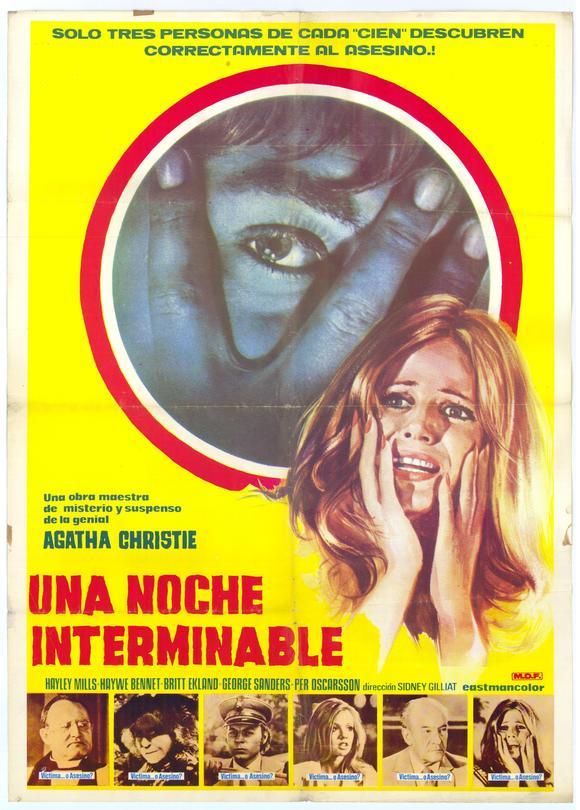 Movies I've Seen in 2012 162.  Endless Night (1972) Starring: Hayley Mills, Hywel Bennett, Britt Ekland  Director:  Sidney Gilliat Rating:  ★★★/5
