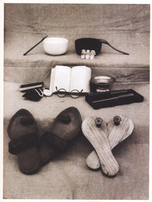 badesaba:  All of Gandhi's worldly possessions photograph from the M.K.Gandhi Institute for Nonviolence