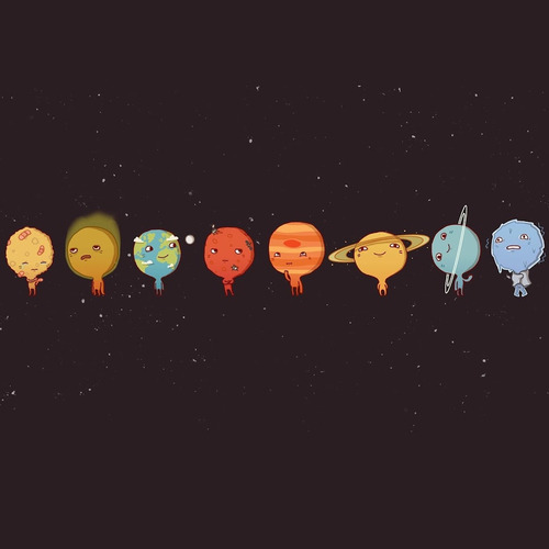 mercury, venus, earth, mars, jupiter, saturn, uranus, neptune <3
