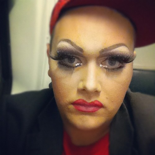 Train realness #drag #gaymazing #tranny #shimtastic #saturdaynightmadness #glamour #butchrealness (Taken with Instagram)