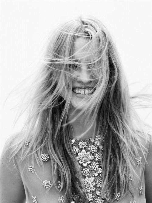 Lara Stone: A sparkling dress will make you happy