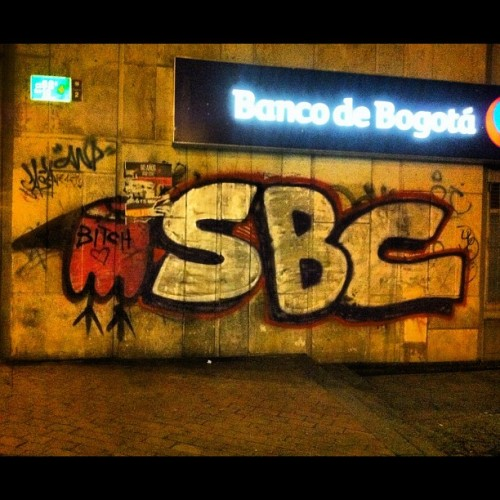 Last night.  #streetart    #bogota  (Taken with Instagram)