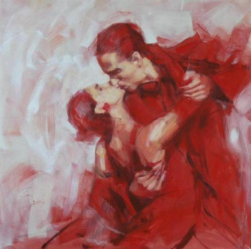 art-and-dream:  red romance tango  reflection of the soul. by Renata Brozozovska