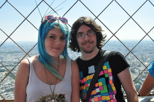 Chris and I at the top of the Eiffel tower.