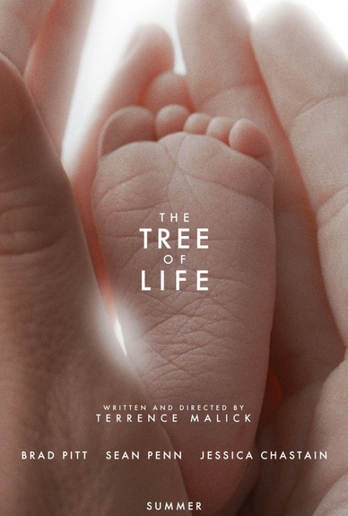 "Title: The Tree Of Life Number: Two Hundred and Fifteen Writer & Directer: Terrence Malick Genre: Drama with Experimental Elements Released: 2011. Seen on: Sky Movies. Seen Before: Never before. Starring: Brad Pitt, Sean Penn, Jessica Chastain Running Time: 139 minutes. Favorite Performance: Brad Pitt as Mr O'Brien. Favorite Moment: A quiet heart-to-heart between Mr O'Brien and young Jack. Thoughts: This is not usually my type of film. I don't really enjoy minimal films, and experimental films annoy me usually, as I feel they are vague just for the point of being vague. I also usually don't enjoy visual movies, one that seem to depend upon beautiful imagery to make the film, I usually enjoy dialogue, action, such as that. However, I found myself slowly getting more and more into this film. First of all, I will say, I think there are sections that can be cut out. The entire scene dedicated to the creation of the universe and dinosaurs, whilst looking beautiful, was to me, nothing more than an example of self-gratifying. Supposedly, Malick has always wanted to make a film about the creation of the universe, but never had a chance, so included it in this film as a 'visual theme'. It was the point I was least interested, and legitimately had to stop the movie for a few hours, out of sheer boredom. It was self-pleasuring from Malick to include it, and felt out of place in my eyes. Maybe if had been used in the credit sequence, or maybe even as a visual inter-title? I also felt that the inclusion of Sean Penn, actually wasn't that needed. They could have cut out every scene with Sean Penn, and I would have probably have enjoyed the film more, giving it an extra star. This isn't because I dislike Sean Penn, I think he's a fantastic actor who usually adds to the movie, but here, he just feels superfluous, unneeded for the movie, and his performance doesn't even seem that good, it just exists. Supposedly, Penn himself is unimpressed with his role, feeling what he was promised in the script didn't occur on screen. Now, what I did like? Everything set in the 1950's, which thankfully, was most of it. I don't think I have ever watched a Brad Pitt performance I haven't enjoyed, and this year, I have seen him, surprisingly, in just one film, the amazing ""The Assassination of Jesse James by the Coward Robert Ford"". Here, he plays a harsh, strict patriarch of a family, and unsurprisingly, Pitt knocks it out of the park. The camera spends a lot of time looking up at him & keeping him at arms length, creating a visual aloofness and uncomfortable feel to him. Pitt displays a gruff, stern attitude, his every words cutting through his sons' hearts. His body language suggests one who is ill at ease at the world around him. However, as the film increases, and we get more in touch with who he is, the camera gets closer, removing the aloof nature between the sons and the father, with the sons being the audience surrogate. He also has a good on-screen touch with Jessica Chastain, who blew me away in the awesome ""Take Shelter"". Here, she represents the softness of the family, a graceful love who cares for her children, and wants to inspire their enjoyment of life. Whereas her husband preaches about the importance of the real world, she wants her children to embrace the beauty of life, enjoy the world around him. Whilst her character could have been quite weak and forgettable, Chastain grasps the role with both hands, entrancing the camera as an ethereal beauty, beautified by her sons. I was very impressed by the performance of Hunter McCracken, as Young Jack, who I felt inhabited the confusion of the teenager very well, at times confused by the seemingly hypocritical views of his father, at times disgusted by the lack of strength from his mother, he demonstrates an ability to carry the emotional epicenter of the movie. Whether working with Pitt, practicing fighting and seemingly afraid of hitting his father, to an unbridled rage at Chastain attempting to discipline him, he was the closest thing the film came to showing an emotional analysis of the character. Because of McCracken's strong performance, Penn didn't feel needed. I have never seen Malick's style before, but he does know how to utilize the camera. The cinematography and direction are beautiful, immersing you into the scene, creating a wondrous entrancing of just the simplicity of life around you. You are unlikely to see a director creating such a distinctive dream-esque style to the level that Malick can. For all his faults, and I do feel he has them, he treats the camera like a loving, tender hand, caressing the beauty of the world into a fascinating film. I just feel that maybe he needs a strong hand next to him to, so to say, 'trim the fat'. The supposed nostalgic beauty of the 1950s is gradually broken down until the human uncertainties unveil themselves, the fraught relationships fascinating for the audience. But whenever the film moved away from the 1950s, showing the present day confusion of Older Jack, played by Penn, or revealing a thematic representation of life, it begins to drag from me, feeling as if too much had been included. If the entire film had just been the 1950s, and what's more, shown in a chronological order, I think I would have given this a 10 out of 10. But for now, I can't give it. For the beauty of the direction, the strong, natural performances of the 1950s family life, and the distinctive originality of the film, I will give this a great mark, but I can't help feeling it could have been even better, in my eyes. Thumbs Up, 8 out of 10"
