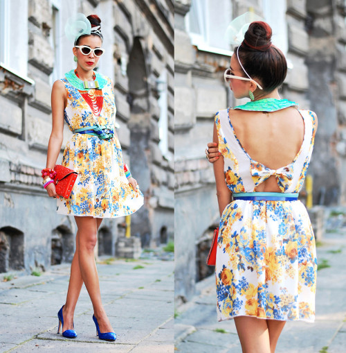 FLORAL dress (by Tamara Gonzalez Perea)