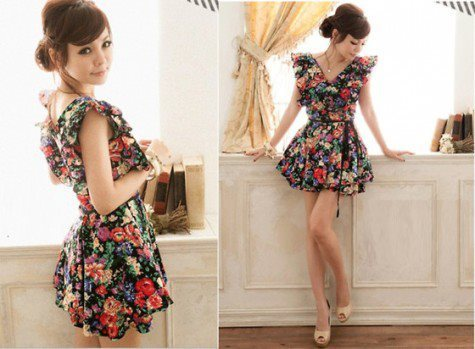 Cute flowery dress.