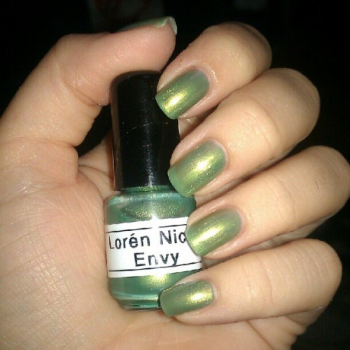 New Color: Envy  Lorén Nicolá Designs franken polish for more info go to the Facebook page www.facebook.com/lorennicola  #nailart #nailartaddict #nail #nailartaddicts #nailpolish #nailartoohlala #nailartclub #naildesign #nails #naturalnails #instanails #pretty #accent #fashion #lorénnicolá #classy #cutepolish #cute #manicure #diy #nailporn #instanails #polish #fashion #instafashion #naildesigns #nailartdesigns #queennails #nailsdid #barbiefingers #nailswow  (Taken with Instagram)