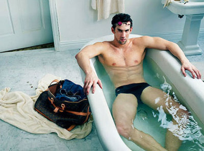 Michael Phelps for Louis Vuitton.