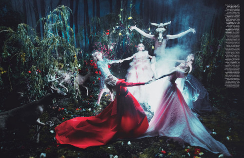businessoffashion:  Stunning image from 'Spellbound' in W magazine's Sept issue. Photography by Steven Meisel, styling by Edward Enninful.
