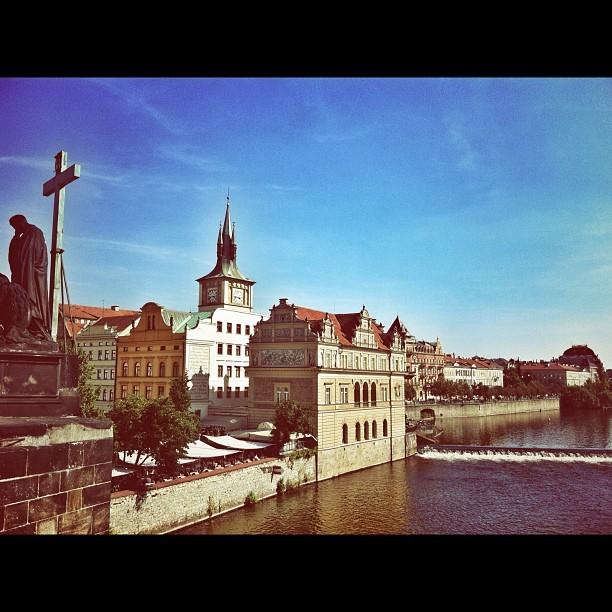 Walking around Prague.  One of my favorite cities in the world  (Taken with Instagram)