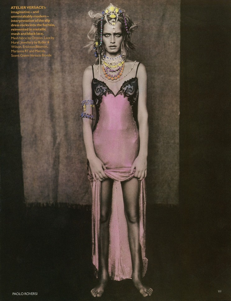 Amber Valletta Photographed by Paolo Roversi for Vogue UK May 1995