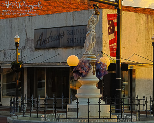 Boll Weevil Monument at Sunset on Flickr.