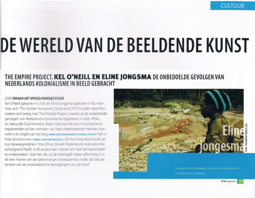 EFM magazine  A shout out to the Empire project from EFM, a new Surinamese publication about finance, economics and management. Okay!