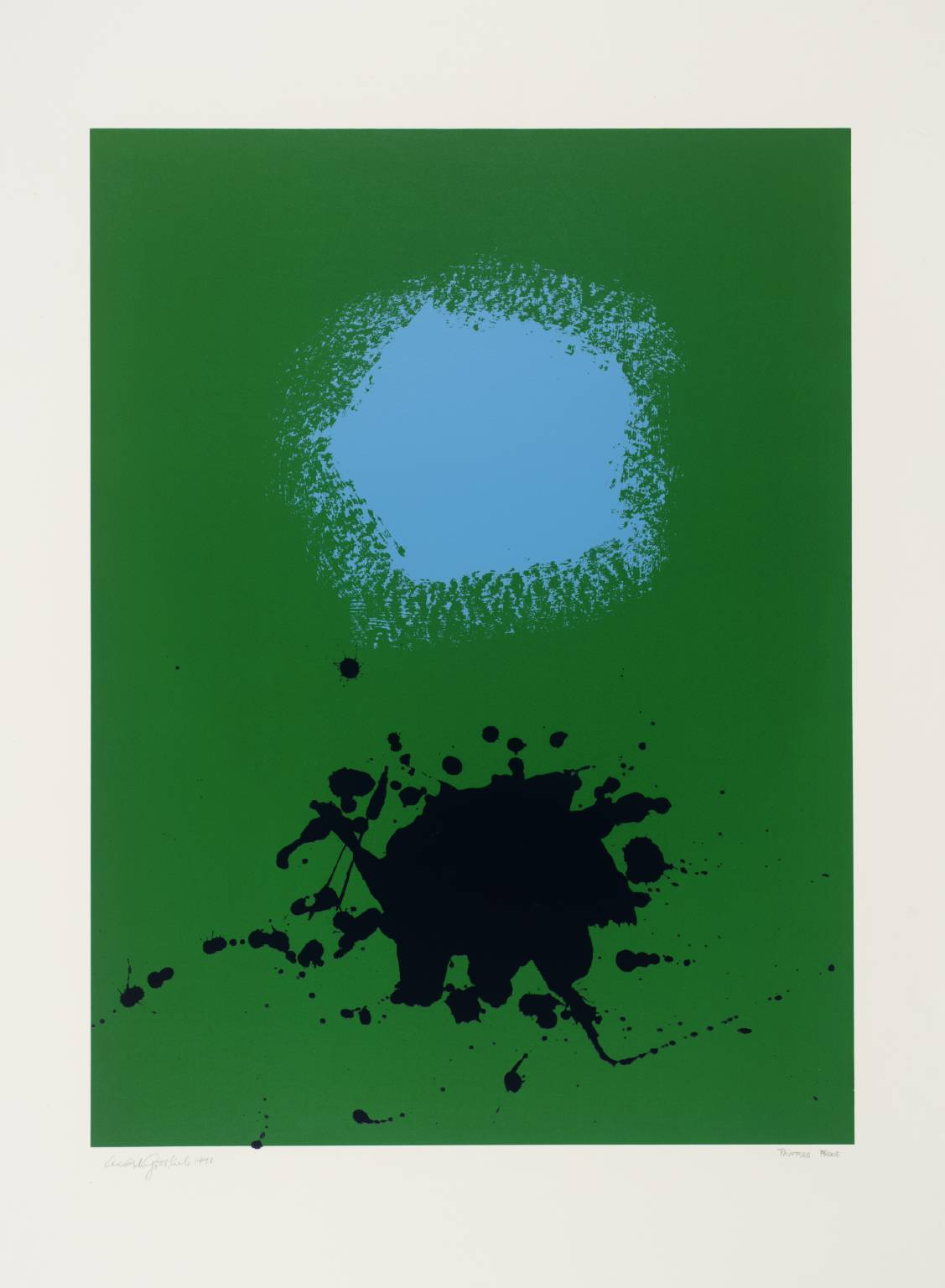 Adolph Gottlieb - Blues on Green, 1971. Screenprint on paper