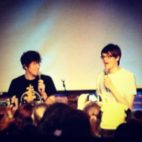 @Chris_Kendall_ & @kickthepj in the gig room. ^  #SitC  (Taken with Instagram at Summer In The City)