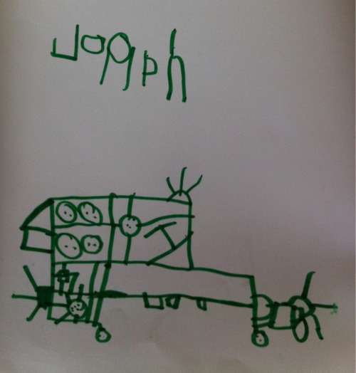 You Nork City car subway. August 17, 2012. Jonah (age 4)