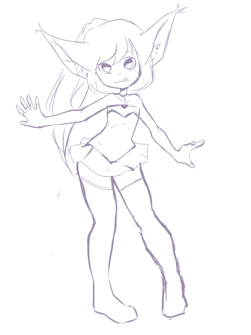 pyrosbox:  TERA character,the only reason I wanna play TERA is because of those cute looking tiny charas ; v ; quick doodle.
