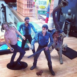 Iggy totally fits in with the evil dead 2 toys #evildead #iggypop #toys #idontwannagrowup (Taken with Instagram)