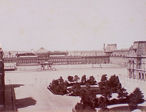 Tuileries palace before its distruction in 1871.