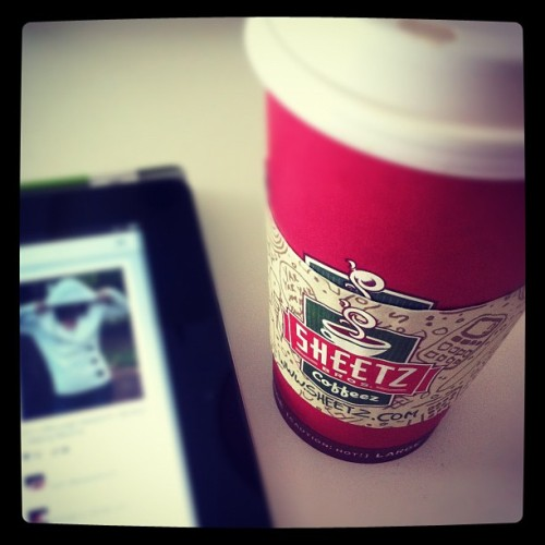 Sheetz latte, Pinterest iPad app (which is gorgeous, btw), and email catch up. Happy Saturday. :) (Taken with Instagram)