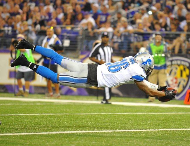 addyaguilera:  Titus Young goes for a touchdown against the Ravens.