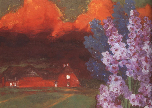 Muggy Evening (1930) by Emil Nolde