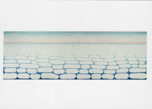 Georgia O'Keefe, Sky Above Clouds IV, 1965, oil on canvas 96 x 288 inches | seen at the Art Institute of Chicago earlier this year | sent to Cambridge, Massachusetts, August 2012