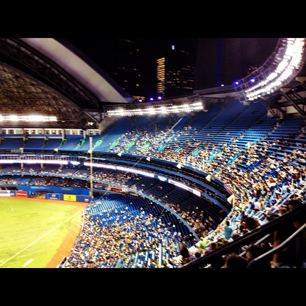 First visit to the #aircanadacenter #bluejays vs #whitesox  (Taken with Instagram)
