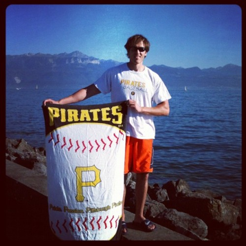 #Pittsburgh #Pirates pride all the way from #Switzerland (Taken with Instagram)