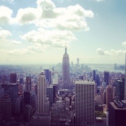 Empire State Building :) (Taken with Instagram at Top of The Rock Observation Deck)