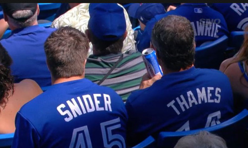 A salute to our former Blue Jays: Travis Snider and Eric Thames.