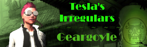 New forum signature file for Geargoyle, co-owner of Tesla's Irregulars!