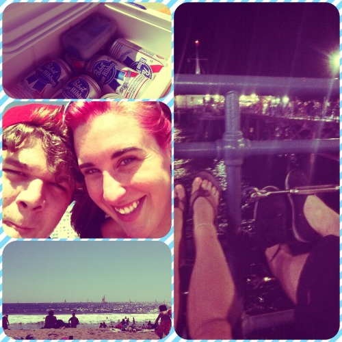 Santa Monica beach day<3 This was such a lovely day. It was perfect. You know, even with all the bad my summer has presented me with, I've had some of the best days. I can't wait to walk in the rain and jump in huge piles of leaves. I can't wait to see a real fall season. You know, something tells me that everything is going to be all right. (: