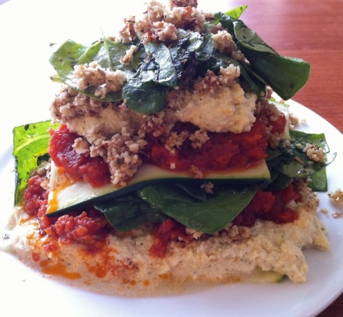 (Click here for recipe Raw Lasagna)