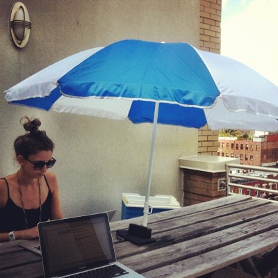 This office doesn't suck. whizhouse:  Today's office with @v_cooper #summer #werk #keaphope (Taken with Instagram at KeapHope Disaster HQ)