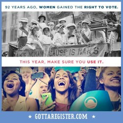 barackobama:  Don't let the suffragettes down.