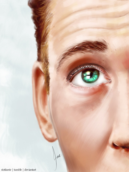 Tom Hiddleston - 'Look Up' (Paint Practice)
