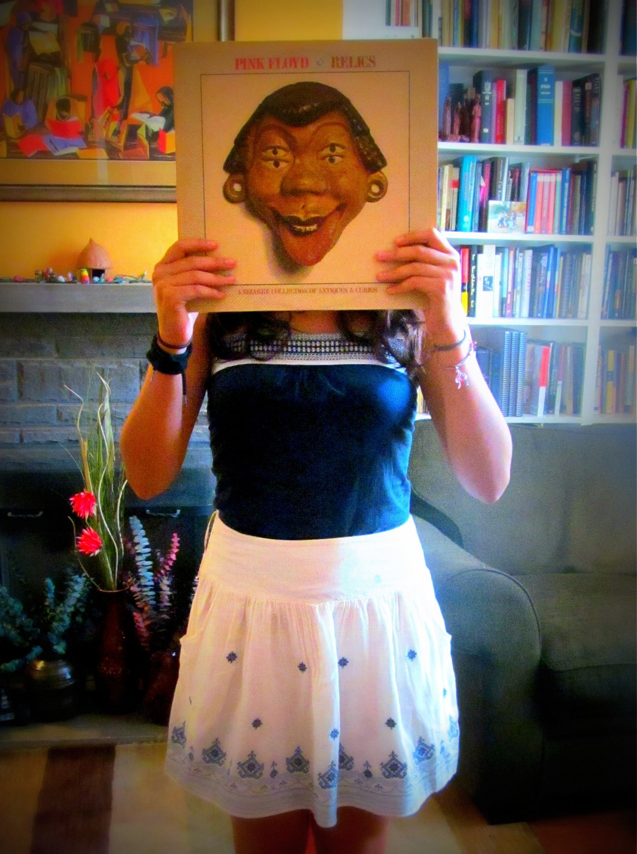 newephesus:  I was so happy after acquiring such great vinyl my face turned into this.