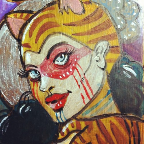 #iphone case in progress #tigra #painting #tattoo (Pris avec Instagram à Dettwiller)
