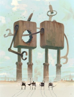 """Wooden Robots"" Travels by Ken Wong"