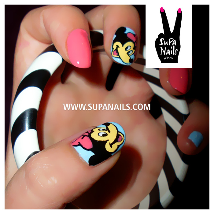 Minnie mouse #nails #nailart #supanails #disney #minnie #mouse #cute
