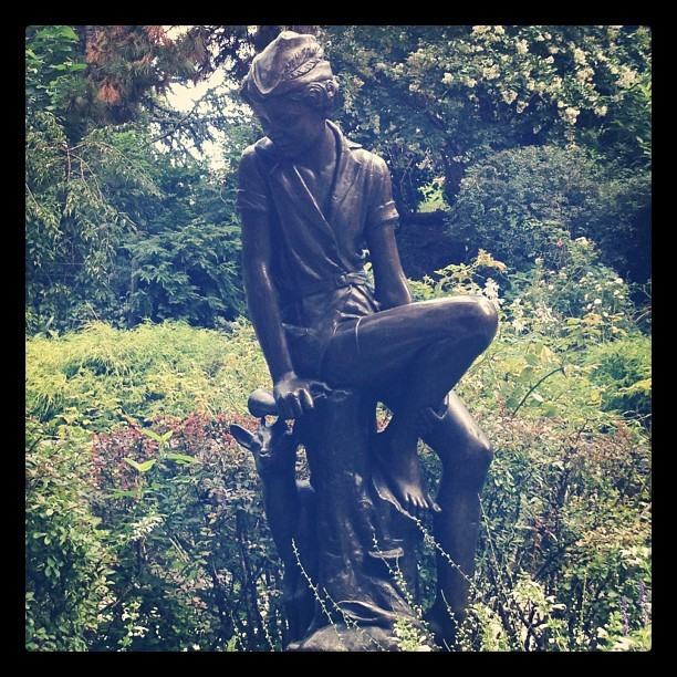Peter Pan statue #nyc  (Taken with Instagram)
